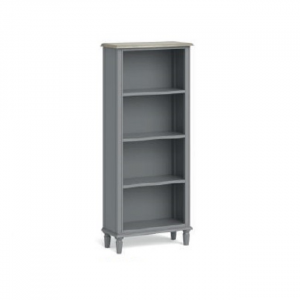 Marseille Slim Bookcase Grey