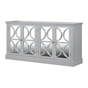 Grey Farence 4 Drawer Mirrored Sideboard