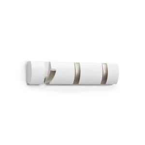 Flip 3 Hook Hanger White