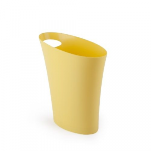 Skinny Trash Can Yellow