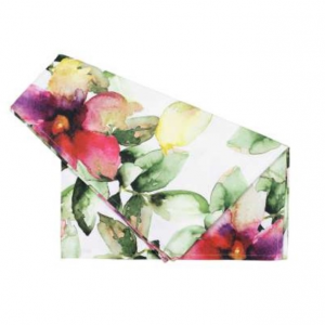 Table Runner Floreale Pink/Green Cotton