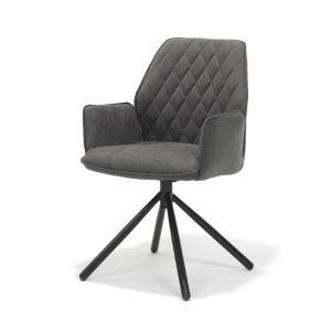 George Grey Dining Chair Metal Legs