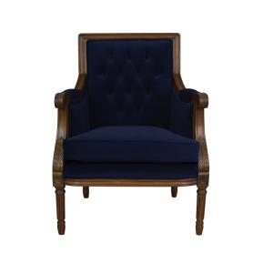 Occasional Chair Navy Velvet