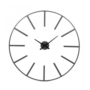 Zoulou Metal Wall Clock Black