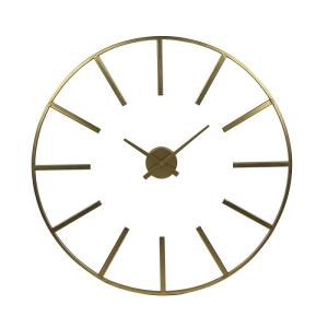 Zoulou Metal Wall Clock Gold