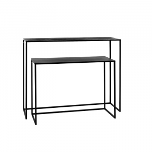 Eszential Console Table Metal Top S/2