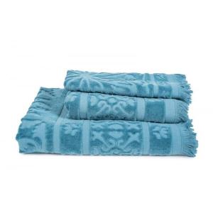 Sumatra Towel 50x100 Blue Stone