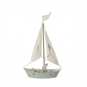 Metal Boat Ornament