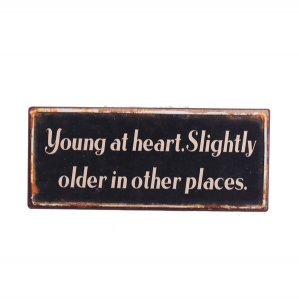 Young At Heart Iron Sign