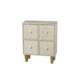 4 Drawer Cabinet With Patterned Front Mini