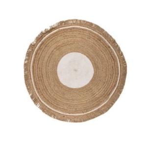 Carpet Boho White Round