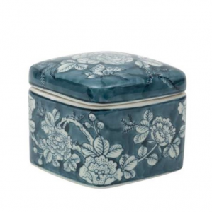 Square Porcelain Box Rosier Blue