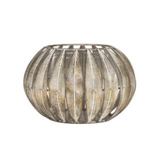 Candle Holder Amada Gold Iron/Glass Large
