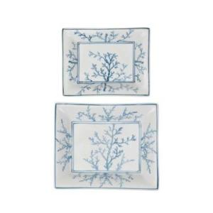 Porcelain Plates Estran Blue White S/2