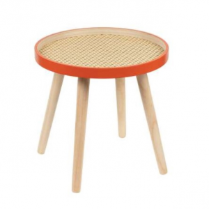 Side Table Place Vil Natural/Coral