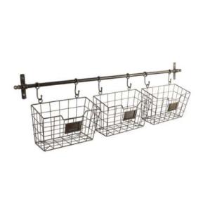 Wall Shelf With 3 Basket Reserve Grey