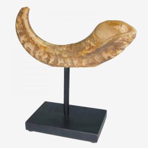 Horn On Black Base Ornament