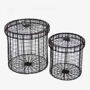 Round Storage S/2 Box Rust