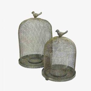 Bird Cage Lanterns S/2