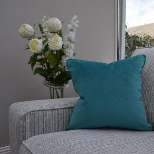 Two Tone Cushion Aqua/Grey