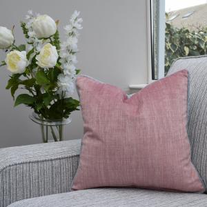 Two Tone Cushion Grey/Pink