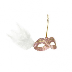Mask With Hanger White Feather On The Side