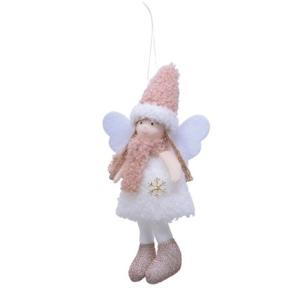 Angel W Faux Fur Snowflake