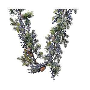 Frost Deco Garland Blue Berry