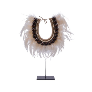 Feather Deco Necklace On Base