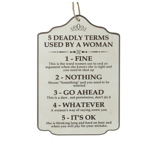 5 Deadly Terms Wall Plaque