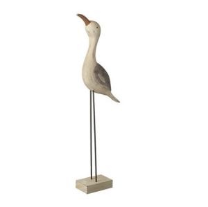 Wooden Sea Bird Decoration Grey Wing