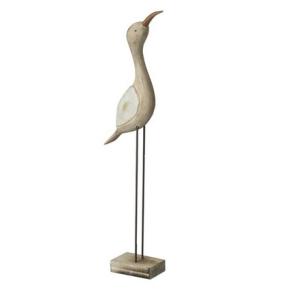 Wooden Sea Bird Decoration White Wing
