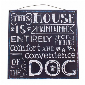 Metal Plaque This House Dog