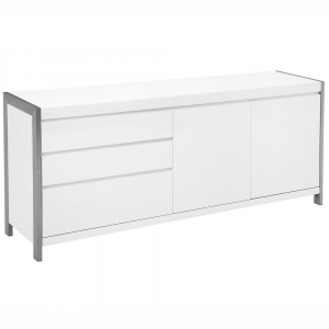 Salconi White High Gloss Large Sideboard