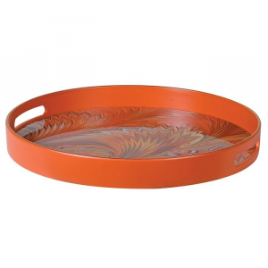 Orange tray with Marbled effect