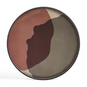 Pinot Combined Dots Glass Tray Round XL