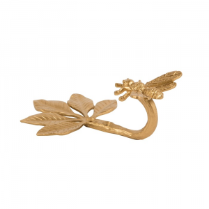 Gold Bee Hook & Tieback