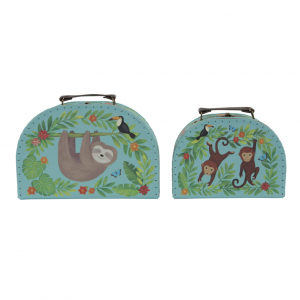 Sloth and Friends Suitcases S/2