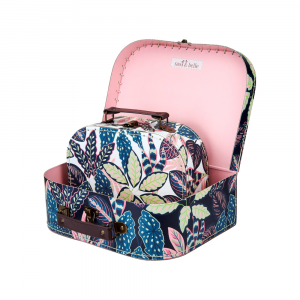 Variegated Leaves Suitcases S/2