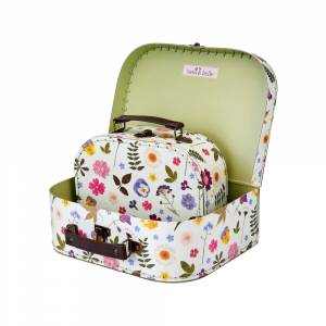 Pressed Flowers Suitcases S/2