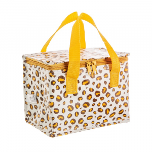 Natural Leopard Print Lunch Bag