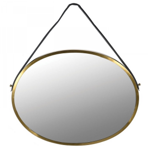 Wall Mirror With Strap Oval
