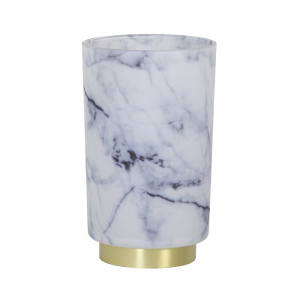 Marble Table Lamp LED Glass White/Grey
