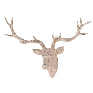 Deer Head Ornament Distressed