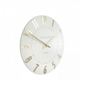 Mulberry Wall Clock Ivory Champagne 12 in