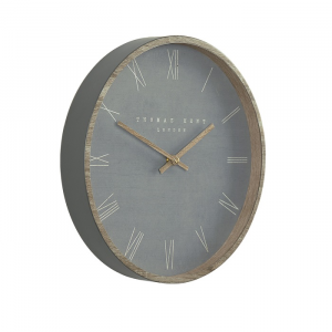 Nordic Wall Clock Cement 12in