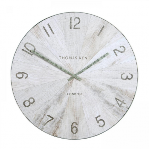 Wharf Grand Wall Clock Pickled Oak 45 in