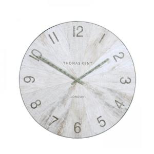 Wharf Wall Clock Pickled Oak 30 in