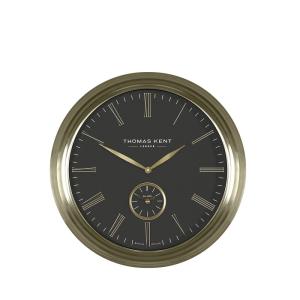 Greenwich Timekeeper Wall Clock Brass Black 19 in