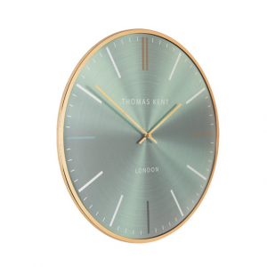 Oyster Wall Clock Mint 16 in